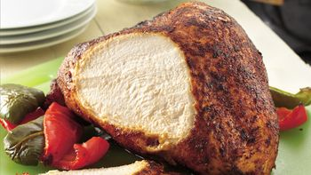 Grilled Turkey Breast with Chili Cumin Rub