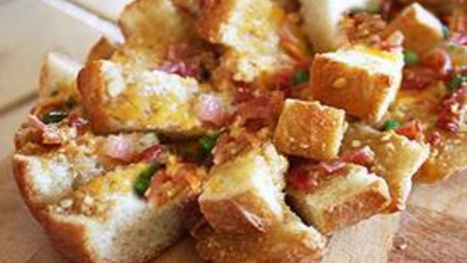 Bacon Cheese Pull-Apart Bread
