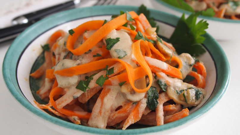 Sweet Potato Noodles with Cashew Cream