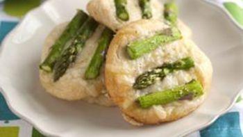 Mini Gruyere and Asparagus Tarts