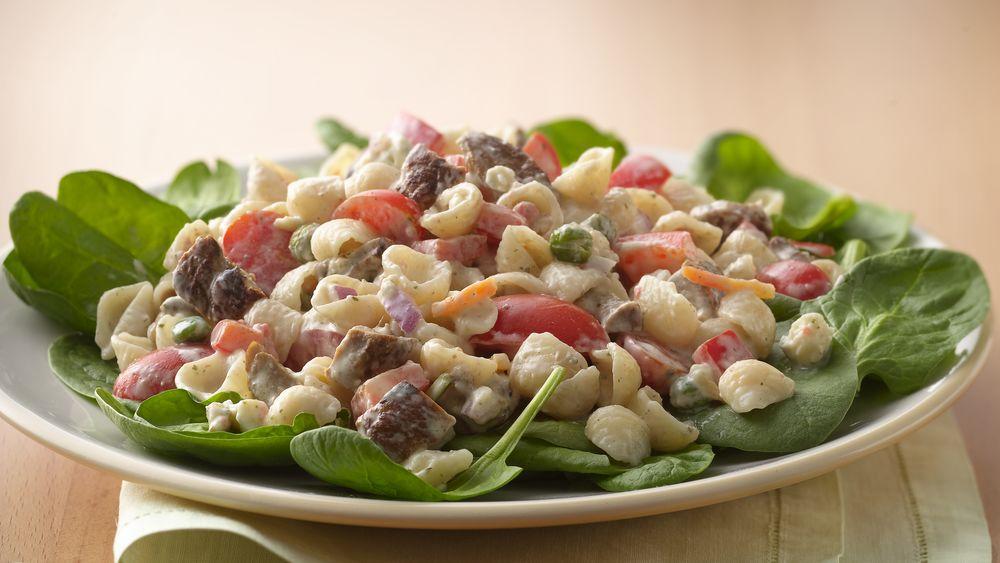 Creamy Black and Blue Pasta Salad