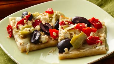 Gluten-Free Greek Appetizer Pizza