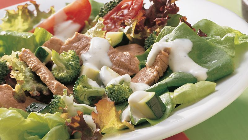 Warm Italian Pork Salad