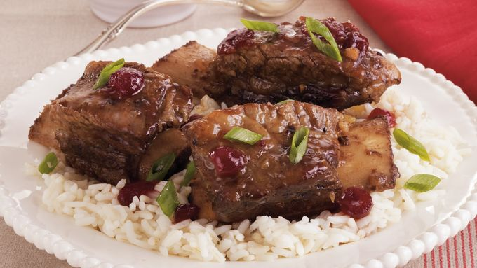 Cranberry-Teriyaki Short Ribs