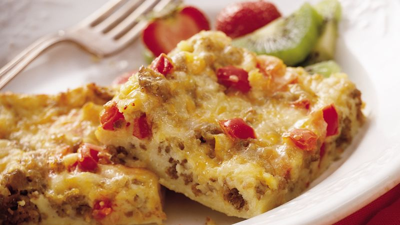 Spicy Sausage Breakfast Squares