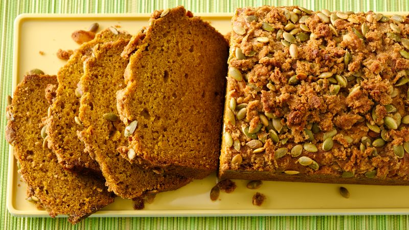 Gluten-Free Pumpkin Bread with Pepita Streusel