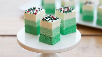 Green Ombre Christmas Fudge
