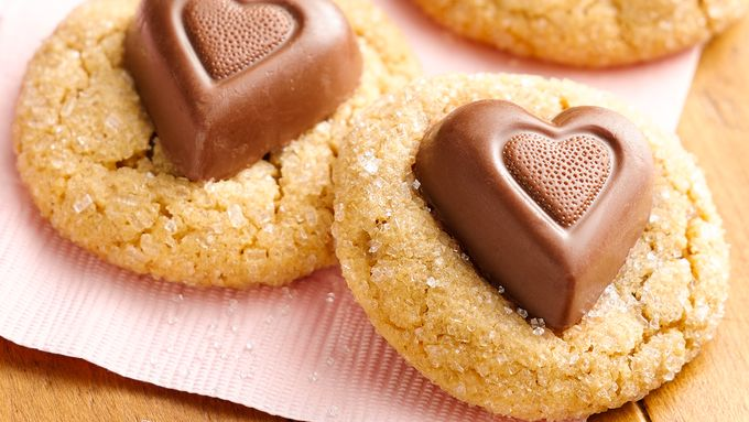 Chocolate Peanut Butter Heart Cookies