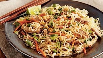 Slow-Cooker Chinese Pork with Garlic Noodles