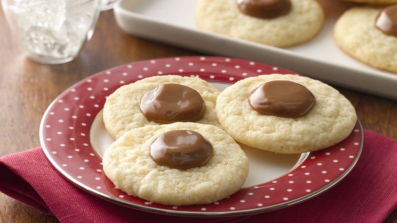Caramel Thumbprint Sugar Cookies