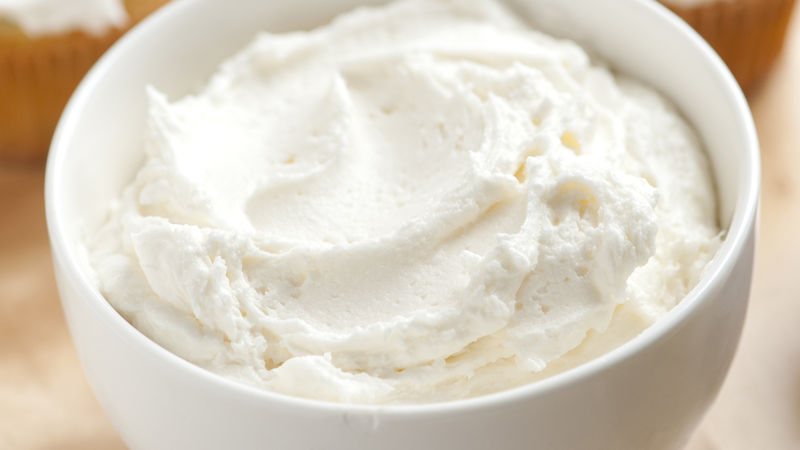 Vanilla Buttercream Frosting recipe from Betty Crocker