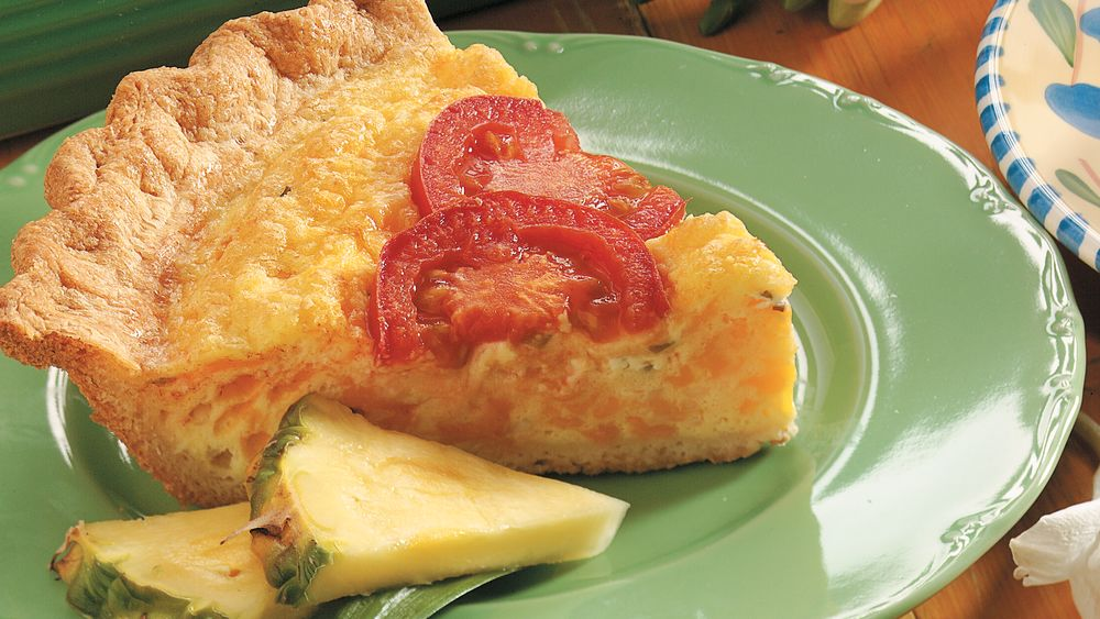 Three-Cheese and Egg Crescent Pie