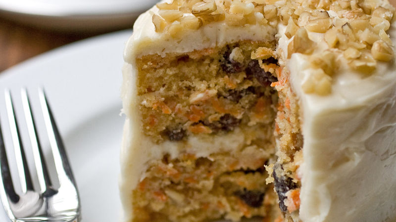 Mini Carrot Cake with Maple-Cream Cheese Frosting