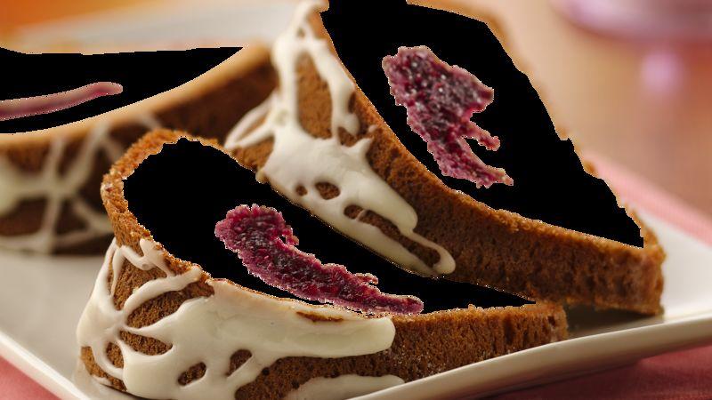Cranberry-Filled Sour Cream Coffee Cake with Orange Glaze