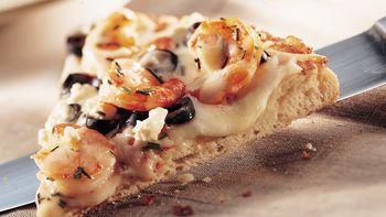 Shrimp and Feta Pizza
