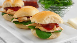 Turkey and Cranberry Sliders with Browned Sage Butter
