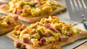 Denver Scrambled Egg Pizza