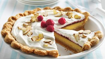Raspberry-Lemon Cream Pie with Almond Crust
