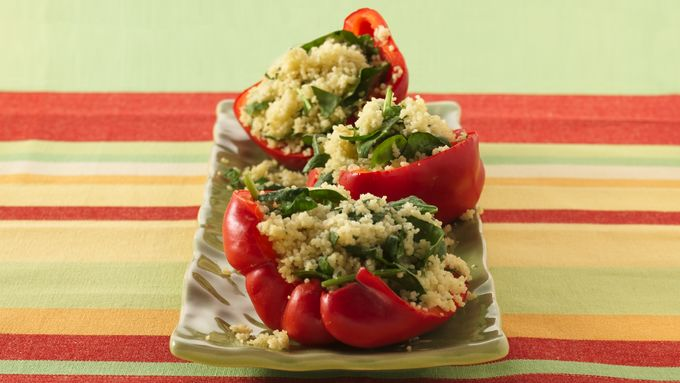 Couscous-Stuffed Red Bell Peppers