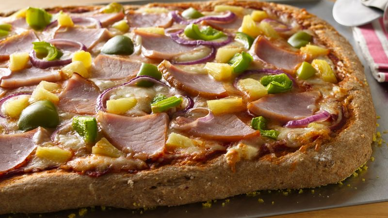 Hawaiian Whole Wheat Pizza