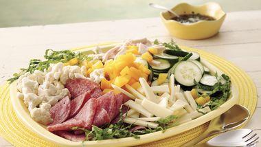 Summer Antipasto Salad with Balsamic Vinaigrette