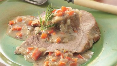 Slow-Cooker Pork Roast with Creamy Mustard Sauce