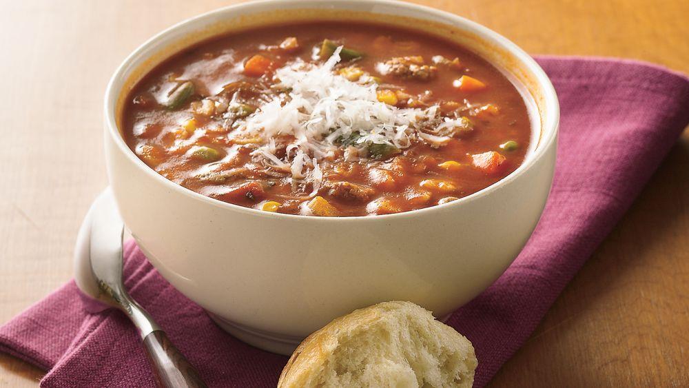 Tomato, Beef and Barley Soup