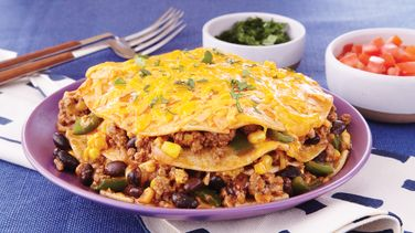 Slow-Cooker Beefy Enchilada Stack