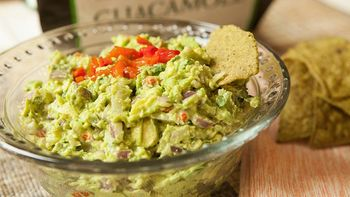 Roasted Red Pepper Guacamole