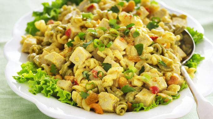 Turkey Chutney Pasta Salad
