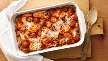 Italian Meatball and Biscuit Bake
