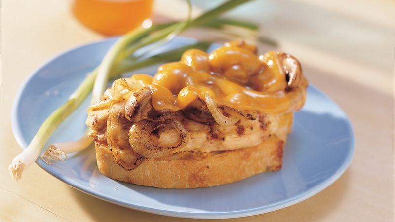 Grilled Cheddar-Chicken Fillet Sandwiches