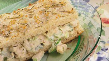 Chicken Salad Focaccia Sandwiches