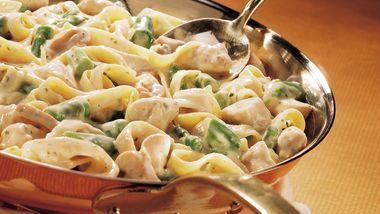 Asparagus-Dijon Chicken Fettuccine