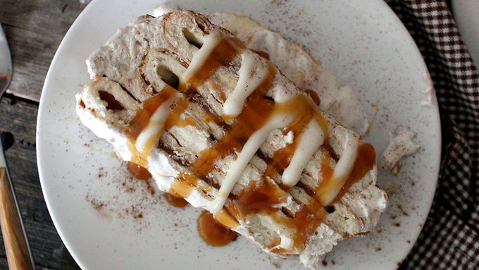 Cinnamon Roll Strudel Icebox Cake