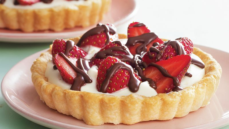 Strawberries and Cream Tart recipe from Betty Crocker