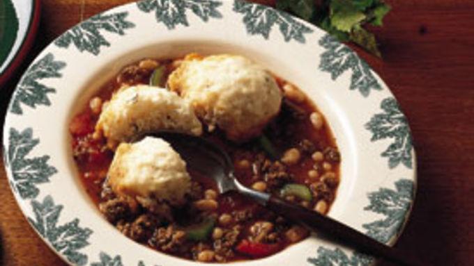 Beef Cassoulet with Herb Dumplings