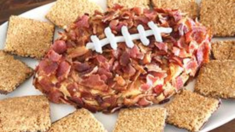 Peanut Butter-Bacon Football Dip