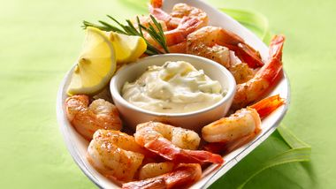Bayou Shrimp with Lemon-Rosemary Aioli