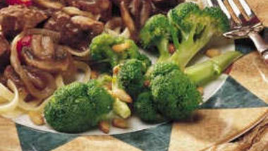 Broccoli with Pine Nuts (Cooking for 2)
