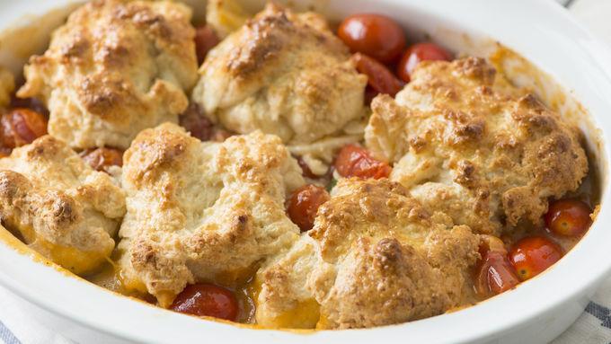 Easy Tomato Cobbler