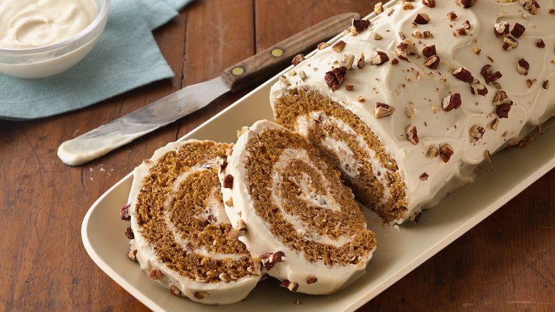 Spiced Pumpkin Praline Roll