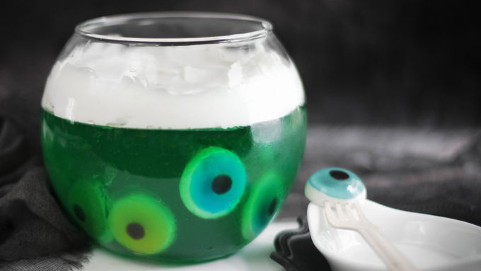 Eye of Newt Halloween Gelatin Bowl