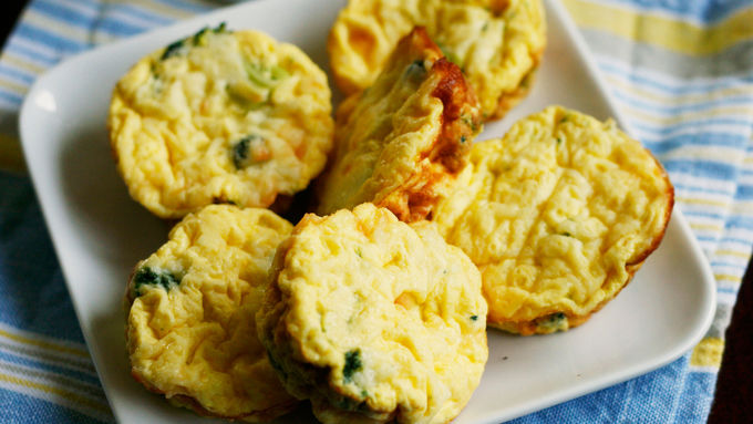 Broccoli and Cheddar Mini Frittatas