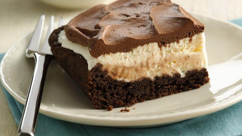Pastel Helado de Chocolate y Vainilla