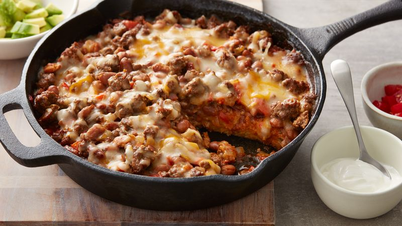 Beef and Bean Tamale Pie recipe from Betty Crocker