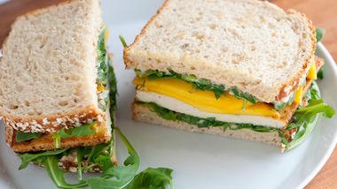 Crispy Tofu and Mango Sandwiches