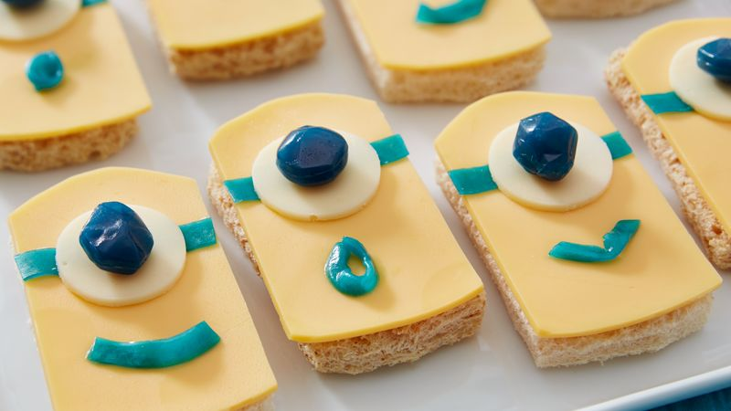 Minion Cheese Sandwiches Recipe From Betty Crocker