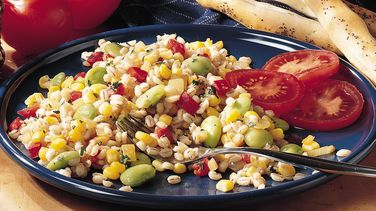 Barley, Corn and Lima Bean Sauté