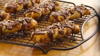 Mocha-Glazed Cinnamon Twists